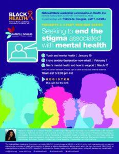 black health mental health webinar flyer