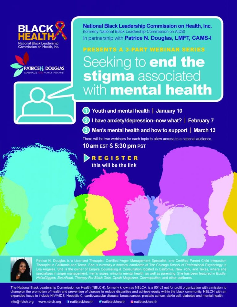 black health mental health webinar flyer
