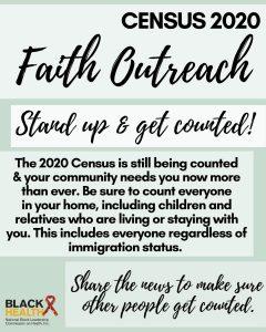 census 2020 faith outreach flyer