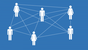 image of people with dotted lines connecting them