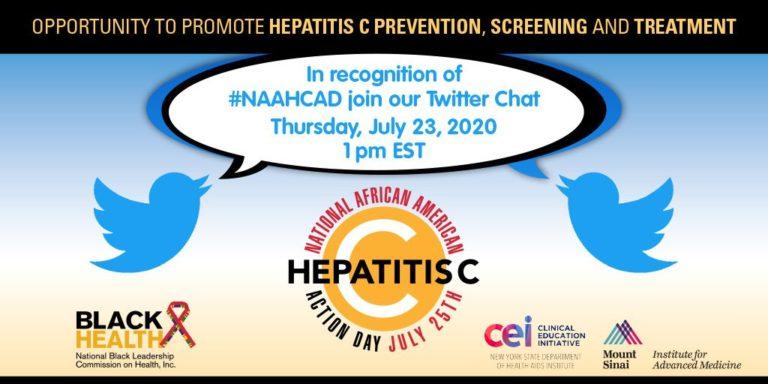 Hepatitis C Prevention Screening and Treatment Twitter event flyer