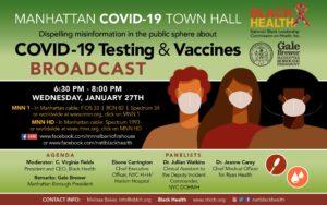 NBLCH Manhattan COVID-19 town hall webinar flyer