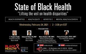 state of black health webinar flyer