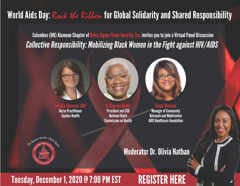 world aids virtual events flyer