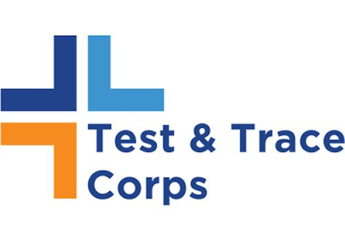 test & trace corps logo