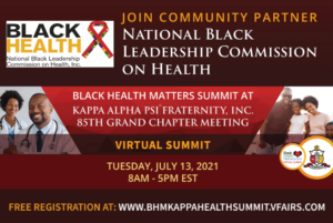 Black Health Matters Kappa Health Summit flyer